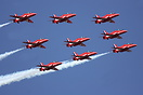 The Red Arrows at Waddington Airshow 2006