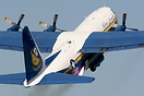 Fat Albert, the US Navy Blue Angels support aircraft, takes off using ...