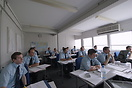 Soon to be airline pilots hard at work in one of the Cabair flight tra...