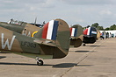 Hurricanes and Spitfires as far as the eye can see at the 2006 Flying ...