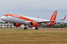 The first A321 neo for easyJet departing  FAB after unveiled officiall...