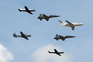 A formation flight of U.S. Air Force advanced transport jet training a...
