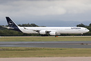 First A340-600 in the new livery. Painted at Air Livery Manchester