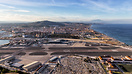 An overview of the runway and terminal in Gibraltar, along with the fa...