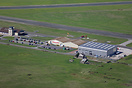 An aerial view of Caernarfon Airport