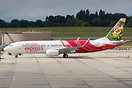 Air India Express' latest 737-800, VT-GHK, passes through Birmingham o...