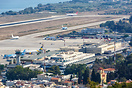 Overview of Rhodes airport.