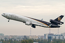Final wave for last ever takeoff of UPS MD-11 from Warsaw