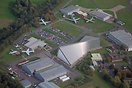 An aerial view of the Royal Air Force Museum at Cosford.