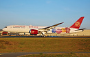 Juneyao Airlines' first Boeing 787-9 arriving back after her first fli...