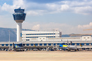 Terminal building and tower of Athens International Airport
