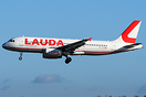 First aircraft of Laudamotion painted in new livery.
