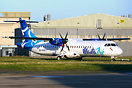 Fresh out of the paintshop is this ATR-72, 8Q-RAZ of Manta Air, a new ...