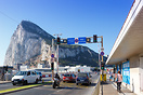 Traffic lights in front of the runway at Gibraltar airport