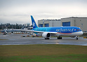 Air Tahiti Nui's second dreamliner head on taxing onto active runway