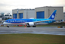 Air Tahiti Nui's second dreamliner taxing down after getting fresh pai...