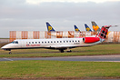 First ERJ-145 to wear the new livery of Loganair, after coming out of ...