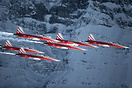 Swiss demo team Patrouille Suisse doing theri demonstration during the...