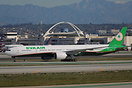 This EVA Air Boeing 777-300ER is currently on lease to Air New Zealand...
