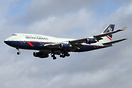 British Airways 3rd Retro jet. Boeing 747-400 G-BNLY painted in the La...