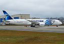 EgyptAir's first Boeing 787-9 Dreamliner SU-GER on a ground taxi test ...