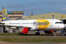 Ex OY-PAE of Primera Air awaiting to enter the Airbounre Colours paint...