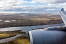 A rare aerial view of East Falkland seen whilst on final approach to R...
