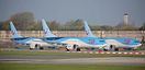 TUI UK Boeing 737 MAX 8 aircraft currently grounded at Manchester.