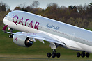 Qatar Airways' Airbus A350-900, A7-AMF, operated today in lieu of the ...
