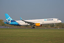 This Airbus A321 was returning to Thomas Cook Airlines today after win...