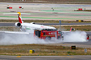 As this Iberia Regional CRJ-1000 was being towed, the tug caught fire.