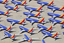 Southwest Airlines Boeing 737 8 MAX aircraft currently grounded/storag...