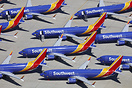 Southwest Airlines Boeing 737 8 MAX fleet aircraft currently grounded/...