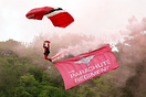 The British Army's Red Devils Parachute Regiment displaying at the Mid...