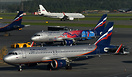 3 Different Aeroflot Colors in one Frame
