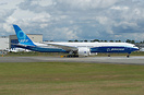 Boeing's first all composite 777-9X doing its first taxi test before h...