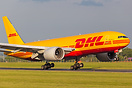 New to the fleet is this 777 Freighter in full DHL livery operated by ...