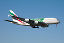 EK448 On final for 23L from Dubai.