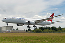Turkish Airlines second Boeing 787-9 Dreamliner on final approach on h...