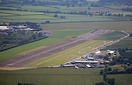 An aerial view of Shobdon Airfield.