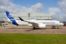 Airbus A220-300 C-FFDK has been painted into Airbus livery by Airbourn...