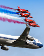 Boeing 747-436 & Red Arrows
