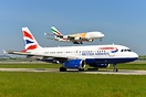 British Airways remote holding for departure whilst Emirates A380 A6-E...