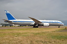Looking amazing in the the retro paint scheme, 787-9 holding short bef...