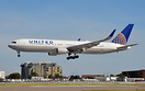 New addition to the United fleet on finals for 27 right, used to fly f...