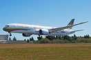 Gulf Air latest 787-9 dreamliner in special 1976 Retro livery landing ...