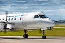 Pacific Coastal Airlines operating for WestJet Link in Calgary, Albert...