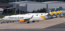 Four Thomas Cook Airlines' aircraft parked at Birmingham following adm...