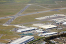 An aerial view of Cape Town International Airport