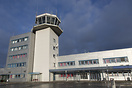 Terminal and tower of Alesund airport